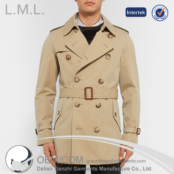 wholesale clothing mens long windbreak jacket new model fashion trench coat