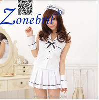 Cute White Sailor Costume Photos Night Games Clothes DS Cosplay Factory Direct Sale