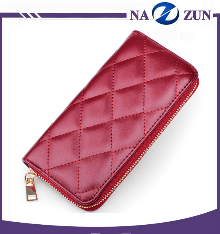 2016 Enduring Popularity Classical Quilted Wallets for Women Cash Bag Lady Purse