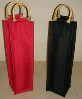 Premium Quality Small Nylon Wine Tote Bag with Cane Handle Personalized Tote Bags Wholesale