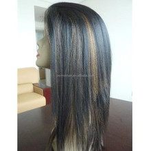 two tone color mixed human hair wigs manufactuter 2015 fashion wig