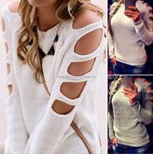 Women clothes , 2017 Autumn Women 7GG sexy round neck long sleeve knitted sweater