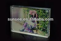 acrylic magnetic sign holder,acrylic block photo frame sigh holder SH-012