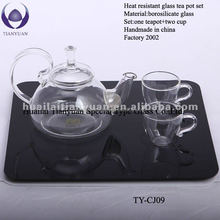 Hot-selling borosilicate pyrex glass commercial tea pot