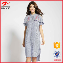 2017 embroidery t shirt dress latest dresses women summer casual