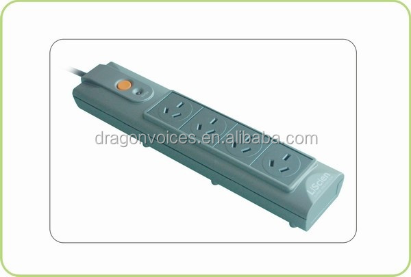 4outlet SAA approval surge protect power strip master slave