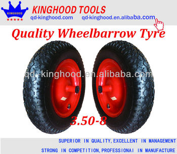 3.50-8 wheelbarrow tire,Pneumatic rubber wheel TOP QUALITY,LOW PRICE