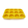 Wholesale 12 even muffin cup cake mold 12 hole round Non Stick silicone cake baking mold