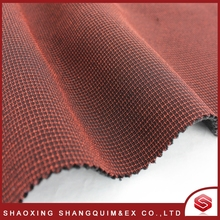 Fashion design Soft and comfortable grid fabric bonded with fleece Fabric
