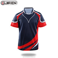Wholesale sublimation new zealand rugby jerseys latest design blank rugby shirt