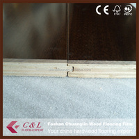 Foshan Manufacturer black engineered walnut timber flooring