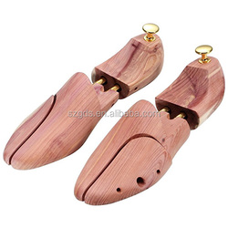 Men's Shoe Trees Twin Tube Adjustable Red Cedar Wood Boots Trees US Size