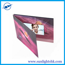 make design customize advertising promotion gifts 7 inch lcd brochure video card,video greeting card brochure 2.4 to 10.1 inch
