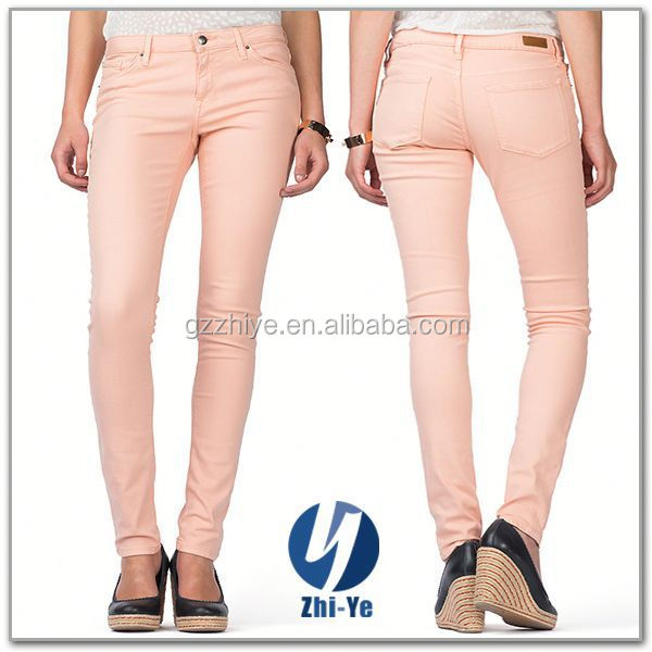 new style fashion pink jeans