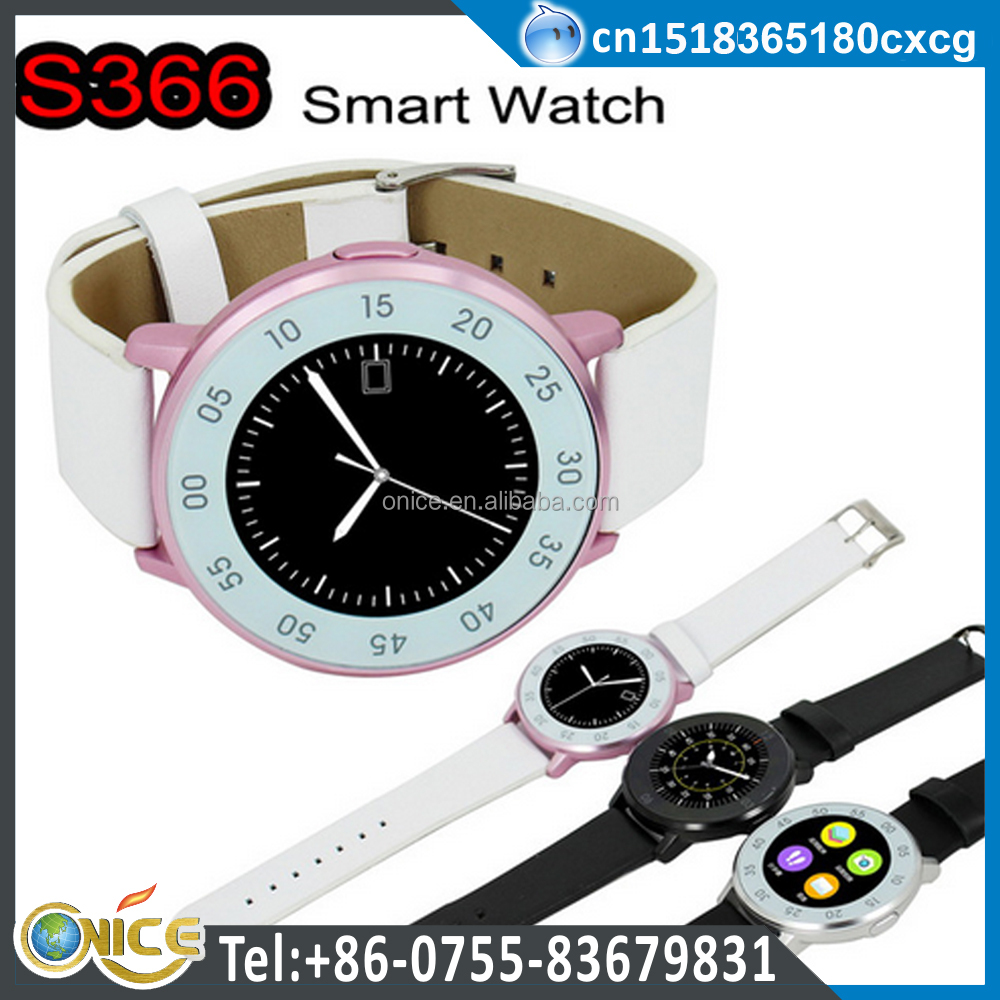 S366 light up high sensitive capacitive round touch screen digital water resistant watch