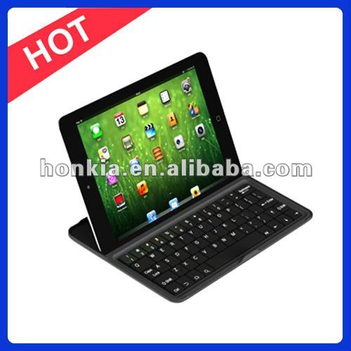 Factory Price Aluminum Bluetooth Wireless Keyboard for IPad MINI with Germany, Italy, Russian and Multi Language