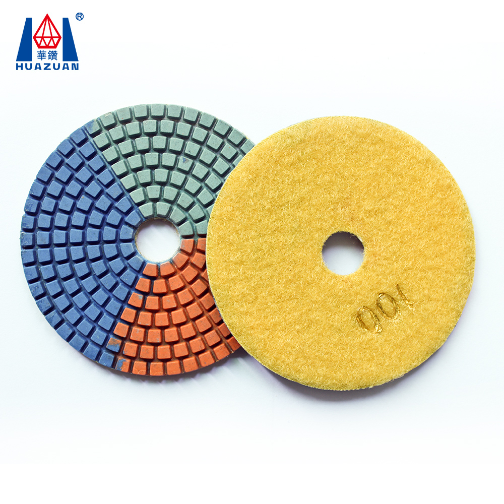 Abrasive tool 3 color granite diamond polishing pad