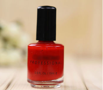 Red color fast dry nail polish factory