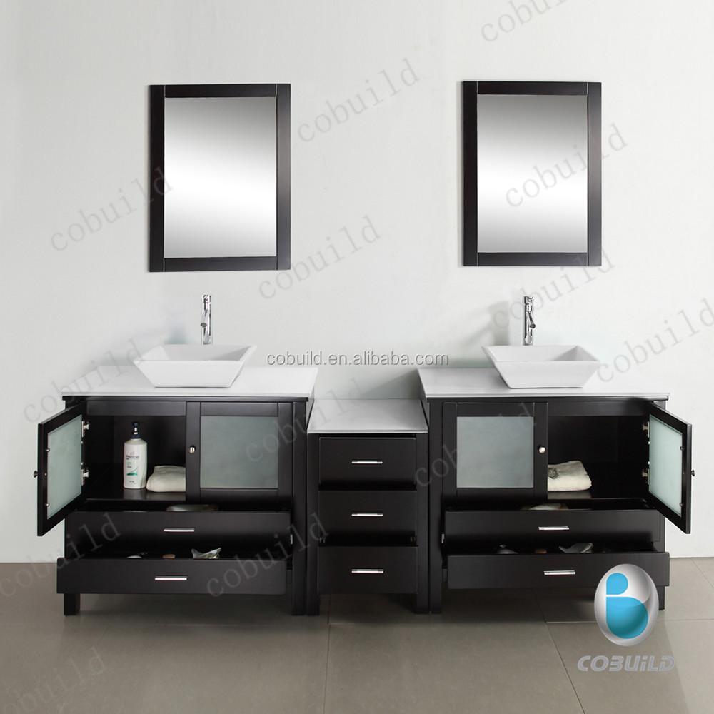 Free Standing Mirrored Glass Door Bathroom Vanity, Free Standing ...
