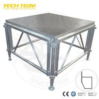 Outdoor aluminum stage podium