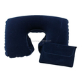 inflatable neck pillow with pouch