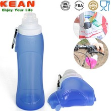 Convenient Foldable BPA Free Silicone Gym Drinking Bottle