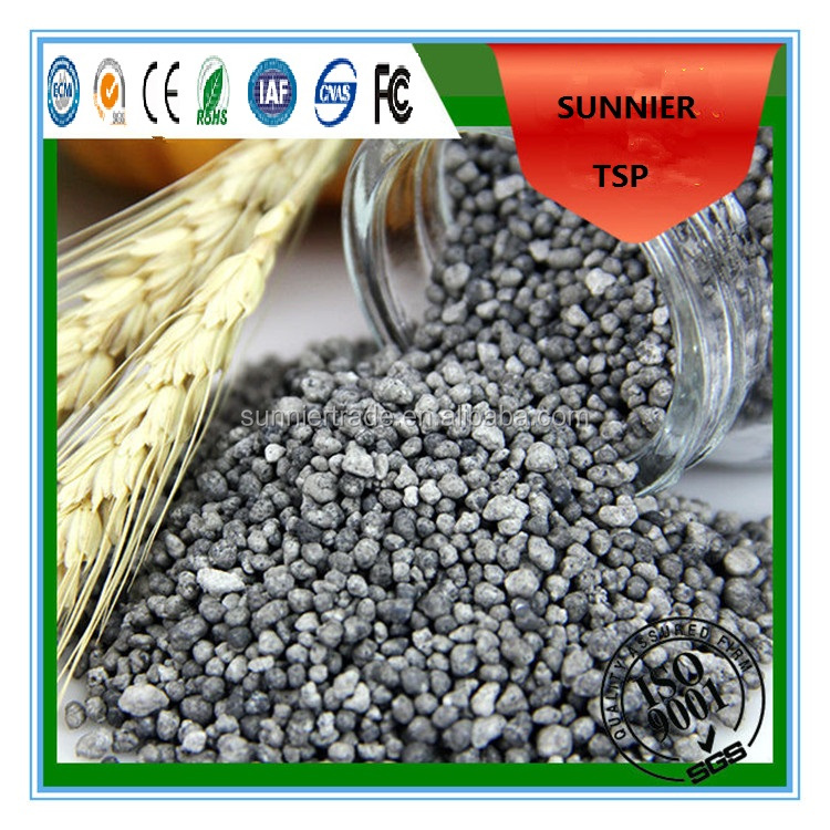 Granular Triple Single Phosphate Fertilizer 46 Manufacture low price TSP P2O5