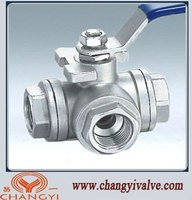 3 Way Stainless steel ball valve (L port &T port)