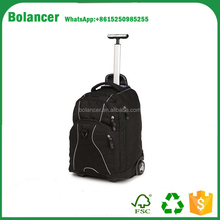 Four spinner high quality polyester travelling trolley bag
