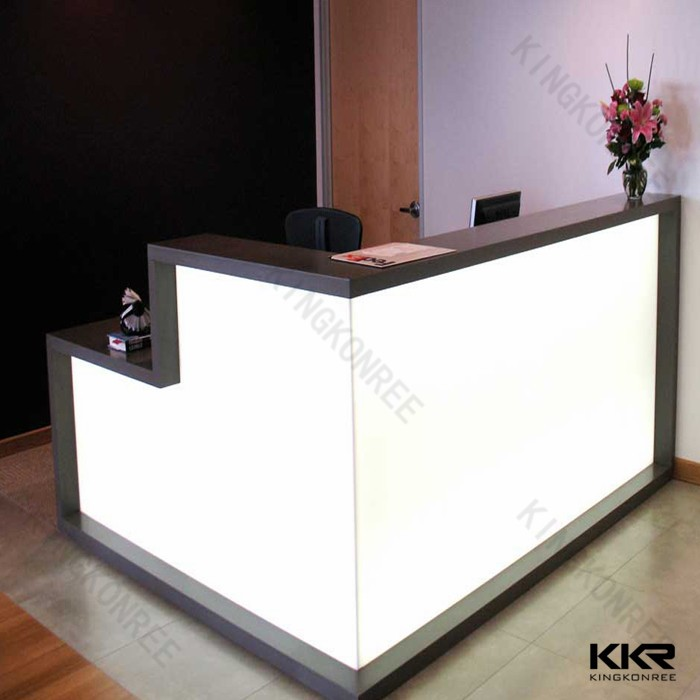 Modern design hotel reception counter