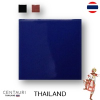 glazed 4.25''x4.25'' square early pink blue black smooth design Thai ceramic swimming pool tile and tile from Thailand