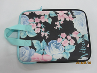Heat sublimation neoprene Laptop Sleeve with handle