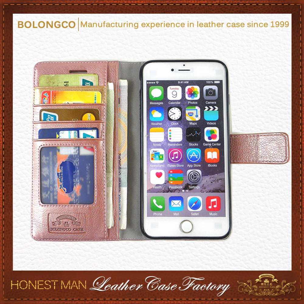 mobile phone leather case for iphone 7 ,wallet leather phone case for iphone 7plus