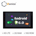 Wholwsale ownice Quad core android 6.0 auto headunit for double din universal support rear camera dvr Mirror