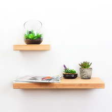 Bamboo Floating Wall Shelf interior decoration wall organizer