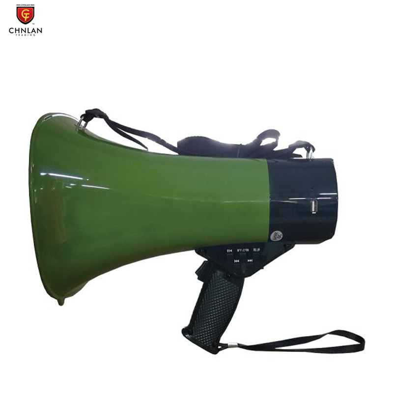 JD01HD 15w Portable driver unit horn speaker megaphone with MP3 usb FM recording siren