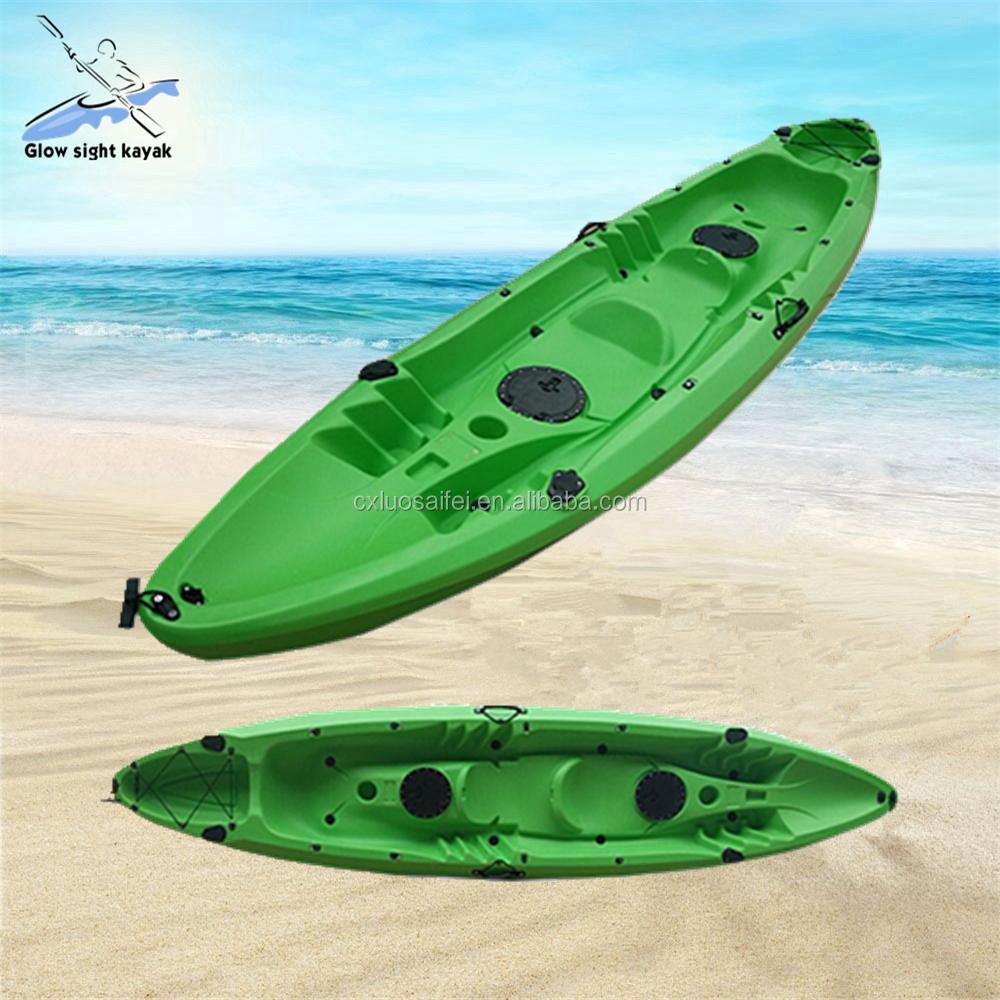 Family fishing kayak to sit on the top kayak with 3 seats for Sit on fishing kayak