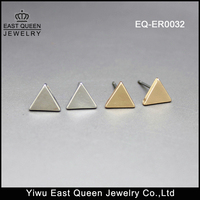 Minimalist Jewelry Cute Stainless Steel Triangle Stud Earrings Manufacturer In China