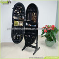 China supplier wooden jewelry cabinet with floor standing