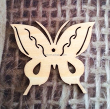 Butterfly Wooden Cutout Shape, Silhouette, Gift Tags Ornaments, Room Decoration