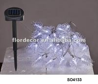 write color pinecone solar String Lights(SO4133)