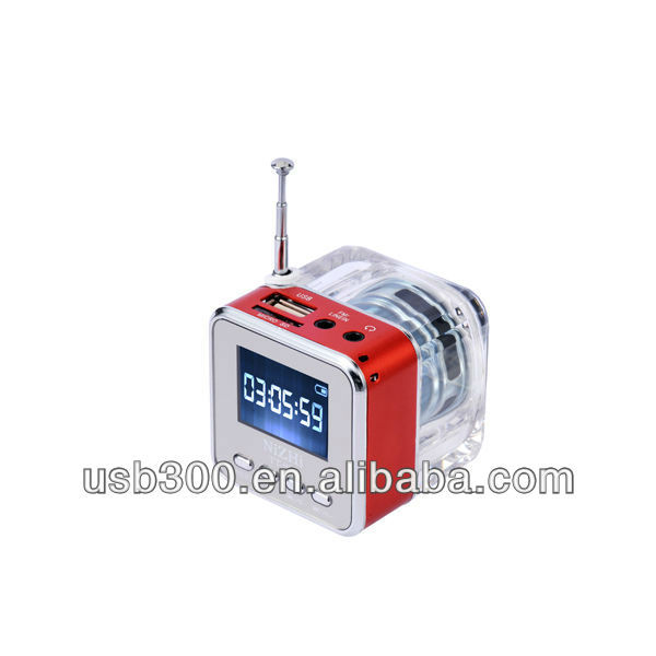 Factory Wholesale Mini Sound box SD Card reader USB MP3 player Mobile Speaker boombox FM Radio TT028