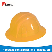 european style high quality hdpe full brim function of safety helmet