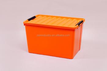 60l Orange Plastic Storage Box