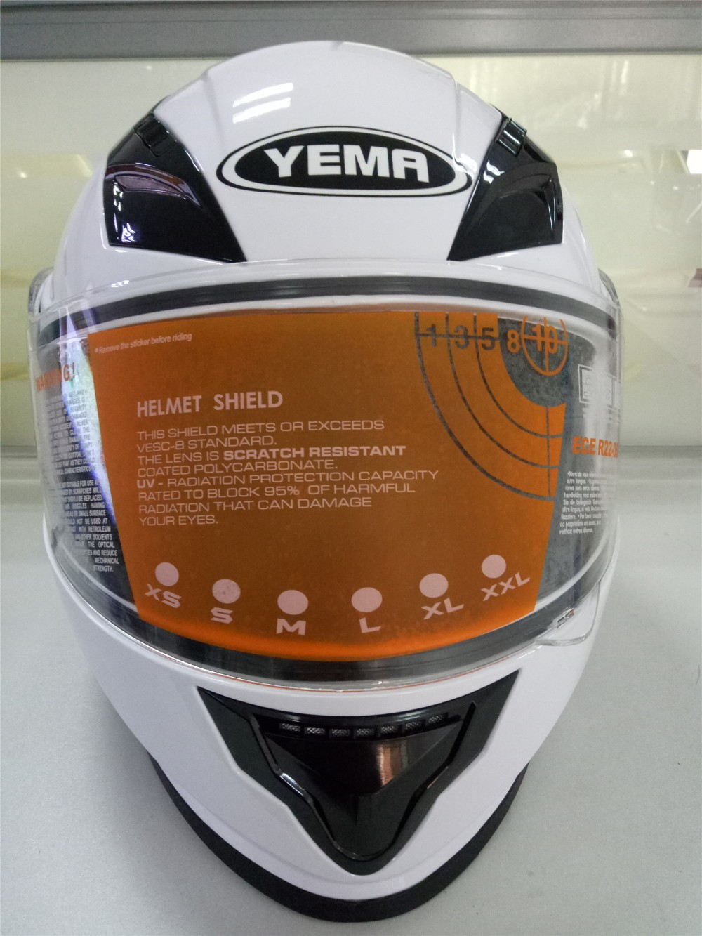 New designFlip up motorcycle helmet with double visor with DOT cerfication full face helmet YM-927