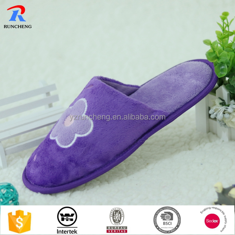 Cheap lady indoor winter slipper