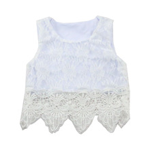 Lace Smocked Tops Sun Top White Girls Tops Party Wearing