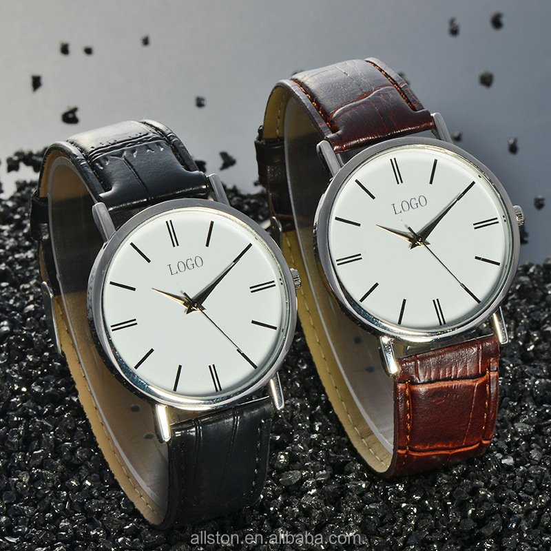 famous custom brand luxury mens watch automatic watch movement genuine leather strap stainless steel watch