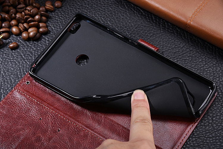 TPU soft inner shell Flip Leather cover with card slot Mobile Phone case for Xiaomi Mi Max