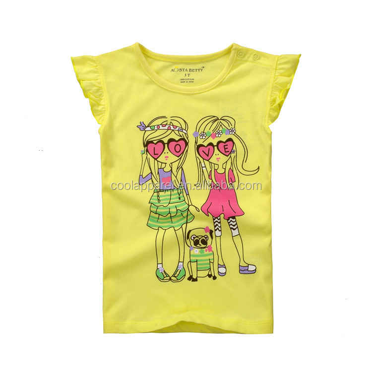 Fashion cheap price uk colorful flowers models t-shirt kids